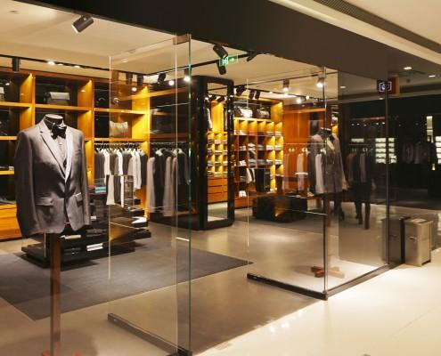 modern fashion shop storefront and showcase